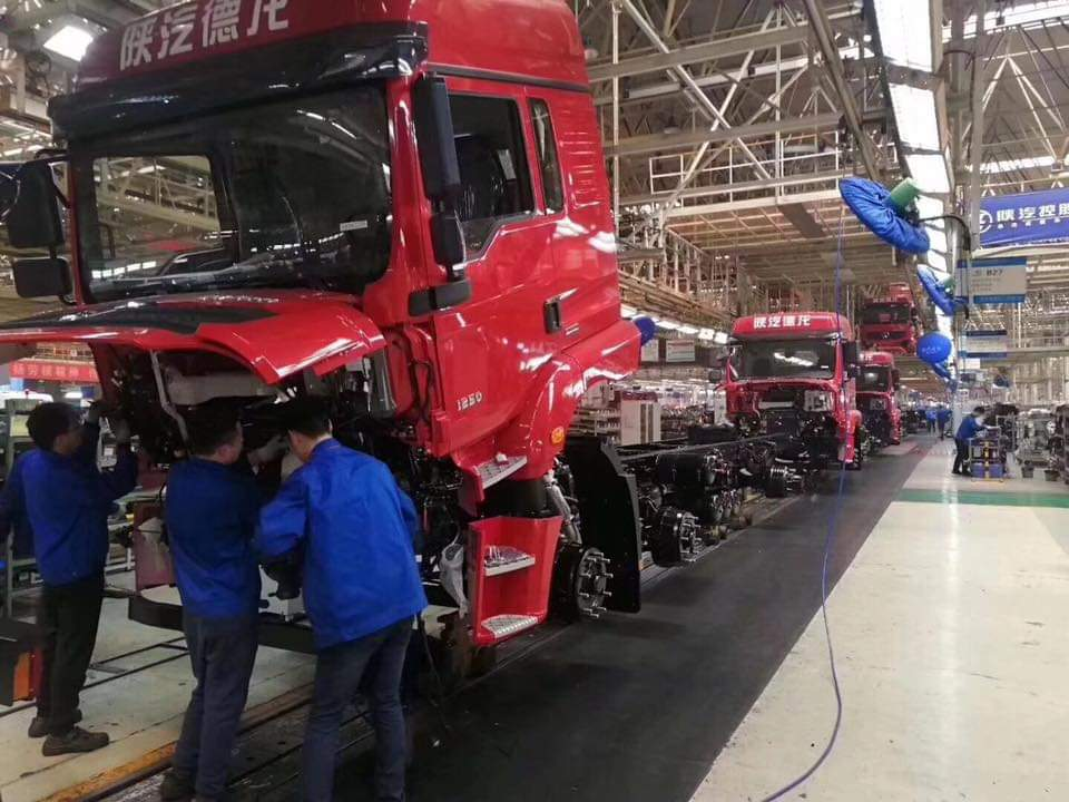 View at Shacman Heavy Truck Manufacturing Plant