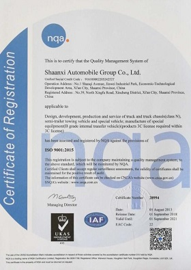 ISO9001:2015 Certificate