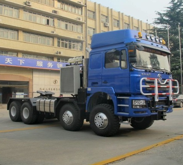 EURO V Chinese Semi Truck Shacman Military Tractor 8X8 with Cummins 600HP ZF Gearbox